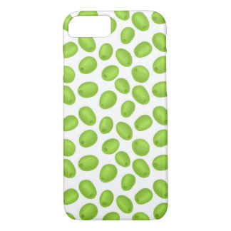 Pattern with  green olives iPhone 8/7 case