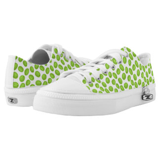 Pattern with  green olives Low-Top sneakers