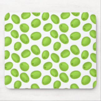 Pattern with  green olives mouse pad