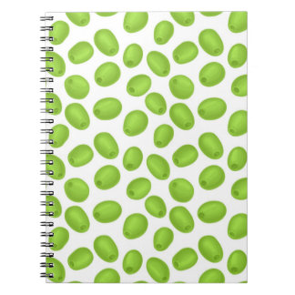 Pattern with  green olives notebook