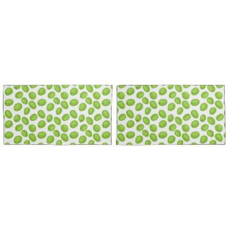 Pattern with  green olives pillowcase