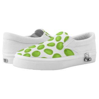 Pattern with  green olives Slip-On sneakers