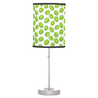 Pattern with  green olives table lamp