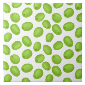 Pattern with  green olives tile