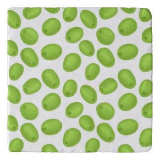 Pattern with  green olives trivet