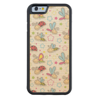pattern with insects carved maple iPhone 6 bumper case
