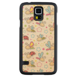 pattern with insects carved® maple galaxy s5 slim case