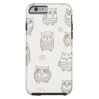 Pattern with owls tough iPhone 6 case