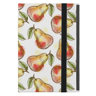 Pattern with pear iPad mini covers