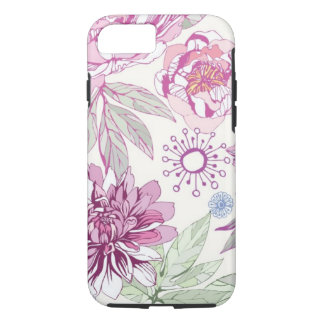 Pattern with pink flowers iPhone 8/7 case