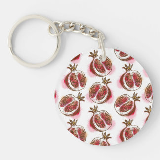 Pattern with pomegranate keychain