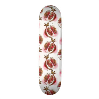 Pattern with pomegranate skate board decks