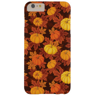 Pattern with pumpkins and autumn maple barely there iPhone 6 plus case