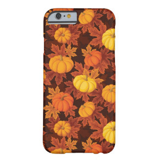 Pattern with pumpkins and autumn maple barely there iPhone 6 case