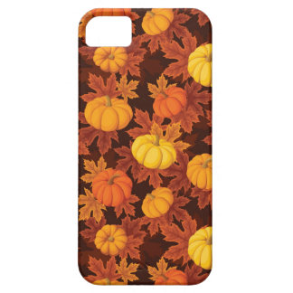 Pattern with pumpkins and autumn maple iPhone 5 covers