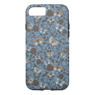 pattern with roses and butterfly iPhone 7 case