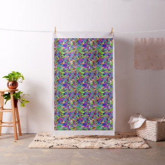 Pattern with stylized flowers or lights of firewor fabric