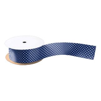 Pattern with white polka dots satin ribbon