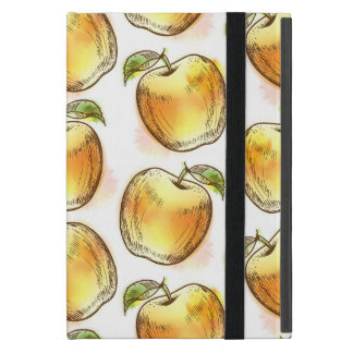 Pattern with yellow apple case for iPad mini