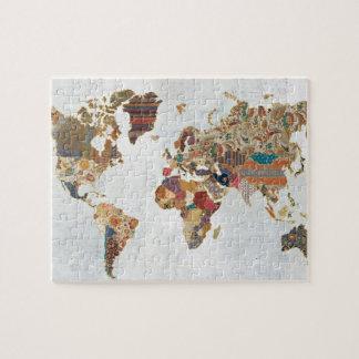 Pattern World Map 6 Puzzle