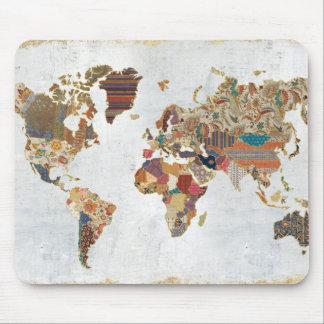 Pattern World Map Mouse Pad