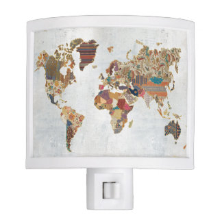 Pattern World Map Night Lite