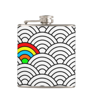 pattern Wrapped Flask! Hip Flask