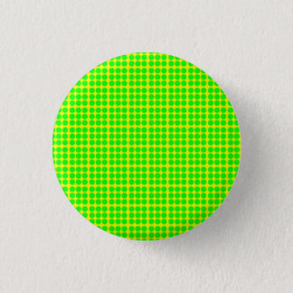 Pattern: Yellow Background with Green Circles 1 Inch Round Button