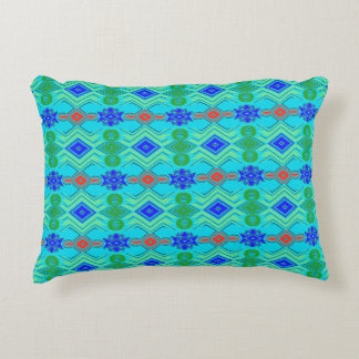 Patterned accent pillow. decorative pillow