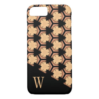 Patterned and Monogrammed in Warm-Tones iPhone 8/7 Case