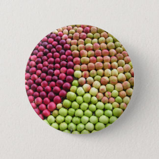 Patterned Apples 2 Inch Round Button