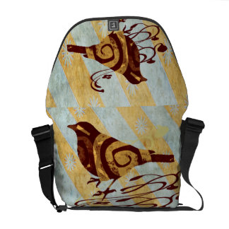 Patterned Bird and Swirls Commuter Bags