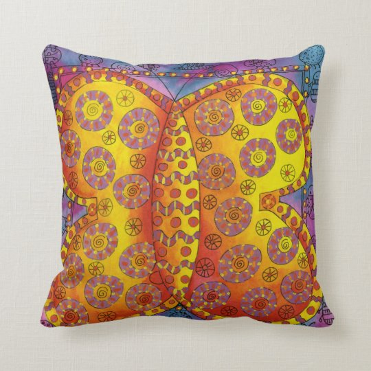 Patterned Butterfly Throw Pillow