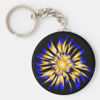Patterned Button Key Chain. Basic Round Button Keychain