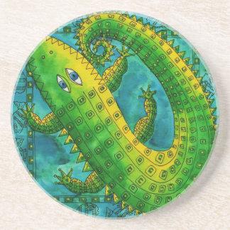 Patterned Crocodile Coaster