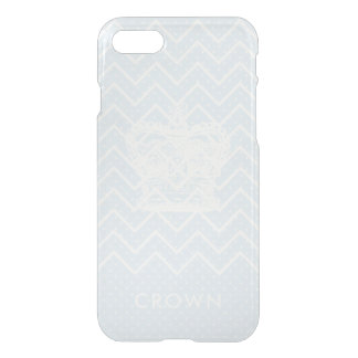 Patterned Crown Clearly Deflector iPhone 7 Case