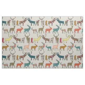 patterned deer stone fabric
