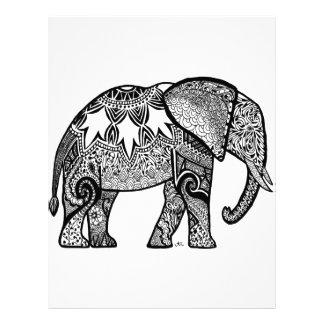 Patterned Elephant Letterhead Template