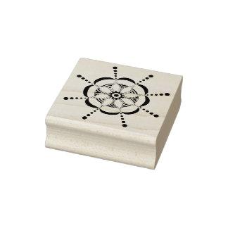 Patterned Floral Rubber Stamp