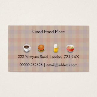 Patterned Food Business Card