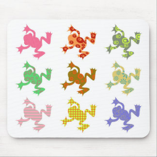 Patterned Frogs Mouse Pad