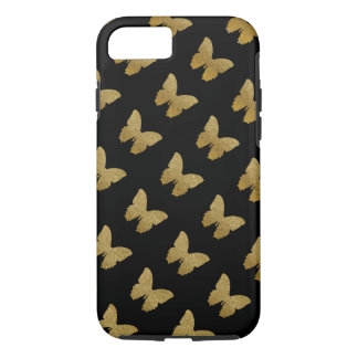 patterned golden-color butterfly iPhone 7 case