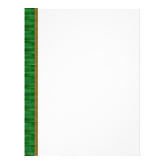 Patterned Green and Gold Border Letterhead