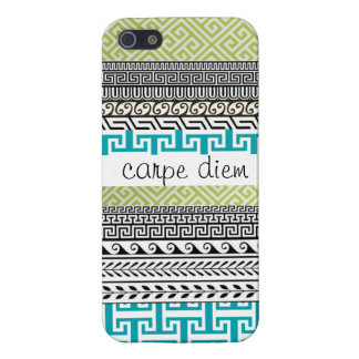 Patterned iPhone 5 Case: Seize the Day Case For iPhone 5/5S