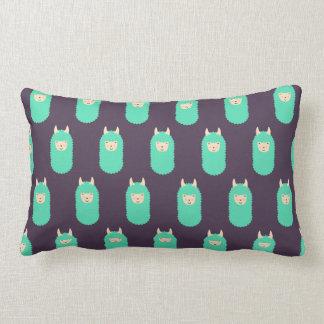 Patterned Llama Emoji Lumbar Pillow