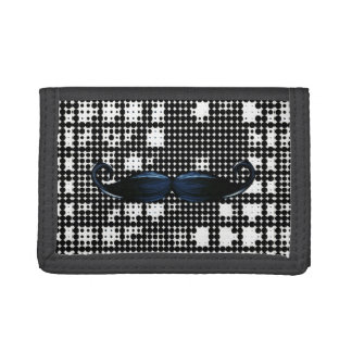 Patterned Mustache Nylon Wallet For Teens