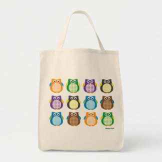 Patterned Owls Tote Bag