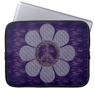Patterned Peace Flower Laptop Sleeve