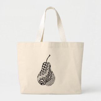 patterned pear tote