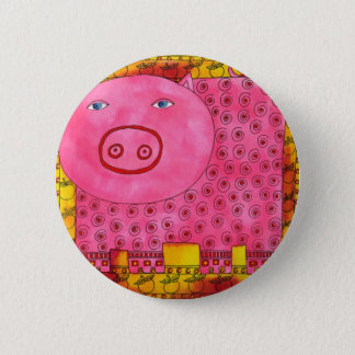 Patterned Pig 2 Inch Round Button